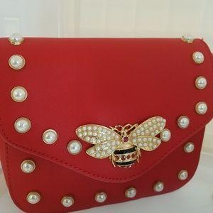 Handbags - BUMBLEBEE / PEARLS LOGO CROSSBODY